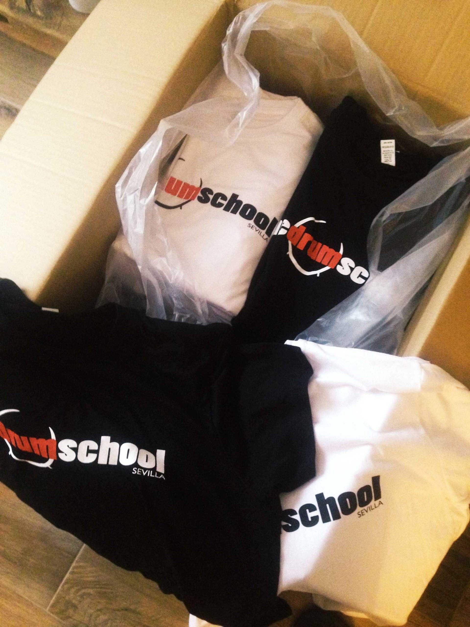 Nuestras camisetas The Drum School Sevilla